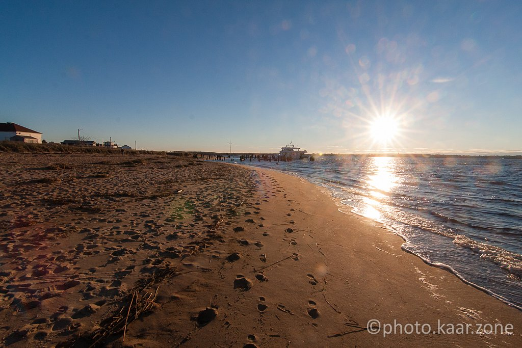 Walking along Newburyport beach